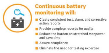 Continuous battery monitoring